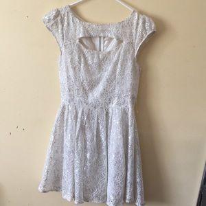 Iridescent white dress